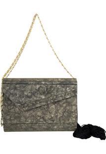 Bolsa Clutch Le Diamond Acrílico Envelope Marrom