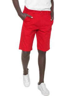Bermuda Sarja Aramis Chino Vermelha