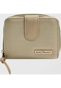 Carteira Feminina Alice Palucci (Dourado, Único)