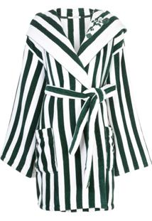 Oscar De La Renta Vestido Envelope Listrado - Verde