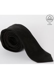 Gravata Em Seda Com Logo Da Marca - Preta - 8X81Cmversace