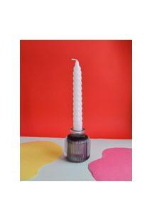 Amaro Feminino Cian Candle Vela Castiçal Zig Zag, Branco