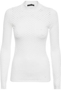 Blusa Feminina Segunda Pele Rede - Off White