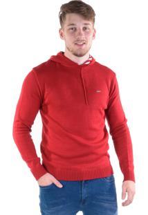 Blusa Retilínea Gang Com Capuz - Vermelha