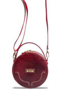 Bolsa Transversal Estruturada Com Alça De Mão - Feminino-Vermelho