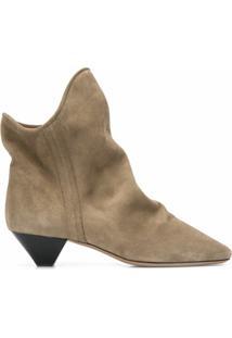 Isabel Marant Ankle Boot De Camurça - Neutro