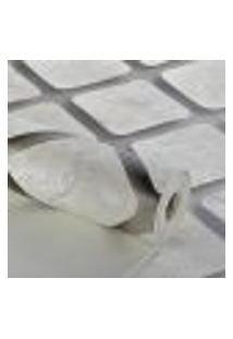 Papel De Parede Importado Vinilico Geometrico Cubos 3D Cinza