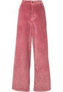 Ami Paris Calça Com Modelagem Ampla - Rosa