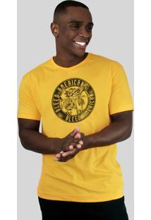 Camiseta Bleed American Los Borachos Amarela