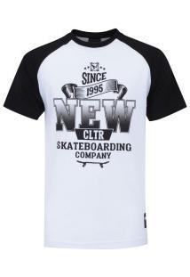 Camiseta Newskate Silk Classic - Masculina - Branco/Preto
