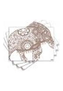 Jogo Americano - Elefante Com 4 Peças - 684Jo