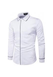 Camisa Masculina Manga Comprida Cs10 - Branca