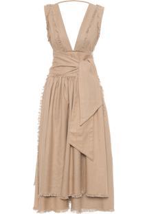 Vestido Shiveluch - Marrom