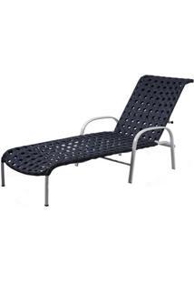 Espreguicadeira Napa Estrutura Aluminio Revestido Em Fibra Sintetica Cor Azul Marinho - 44580 - Sun House