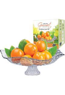 Fruteira E Saladeira De Vidro Com Pé Ruvolo Gourmet Modena Redonda 32Cm