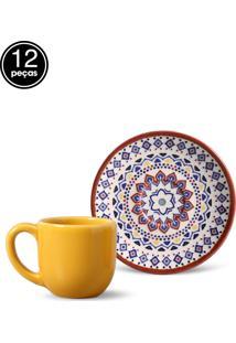 Conjunto 12Pçs Xícaras De Café Coup Henna Porto Brasil