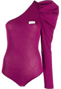 Gcds Glitter One-Shoulder Body - Rosa