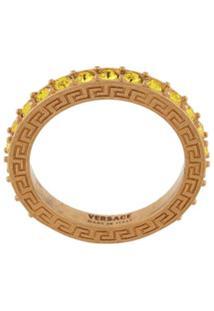 Versace Anel Com Aplicação De Logo - Dourado