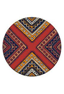 Tapete Love Decor Redondo Wevans African Multicolorido 94Cm