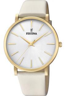 d0d86008e41 Relógio Digital Couro Ouro Branco feminino