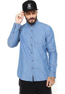 Camisa Jeans Volcom Hudson Azul