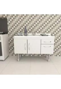 Gabinete Para Cozinha 2 Portas 2 Gavetas Branco 48X11
