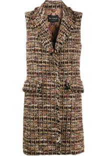 Etro Tweed Mid-Length Gilet - Neutro