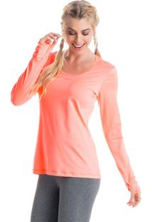 Camiseta Pulse Mg Longa Coral/Gg