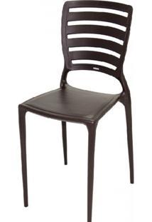 Cadeira Sofia Vazado Horizontal Polipropileno Marrom - 17425 - Sun House