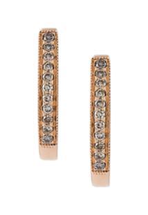 Wouters & Hendrix Gold Brincos De Ouro Rosa 18K Com Diamante - Metálico
