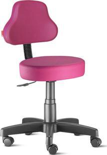 Cadeira Mocho Rosa Plus Giratória