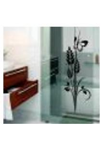 Adesivo Para Box De Banheiro Floral Modelo 6 - Medio