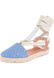 Alpargata Dafiti Shoes Bordado Azul