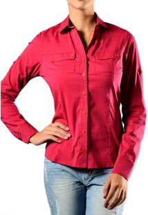 Camisa Marcia Mello Tricoline Mg Longa Pink