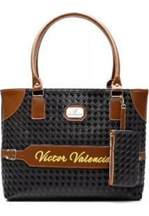 Bolsa Victor Valencia V-8 - Feminino-Preto