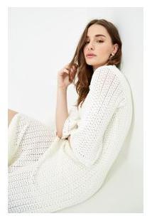 c8d8bde0e2 Off Premium. Vestido Romantic Branco