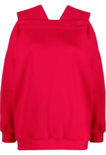 Atu Body Couture Moletom Com Detalhe De Recortes - Vermelho