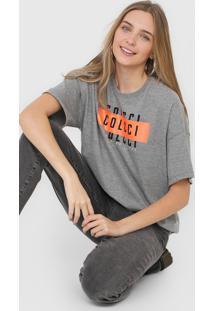 Camiseta Colcci Lettering Neon Cinza - Cinza - Feminino - Algodã£O - Dafiti