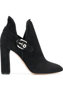 Casadei Ankle Boot Com Fivela - Preto