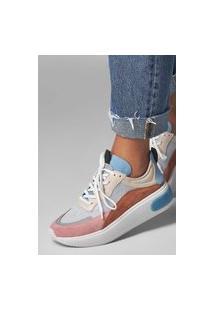 Sneaker Couro Smidt Rosa/Avelã/Azul