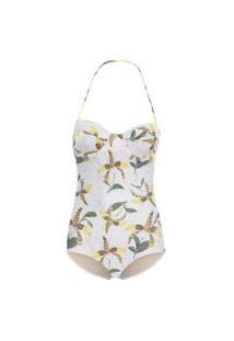 Maiô Leopard Orchid - Off White