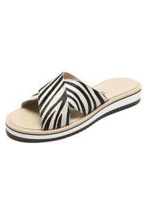 Sandália Santa Lolla Zebra Bege