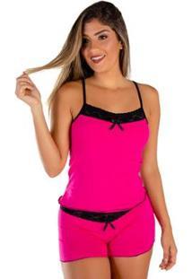 Baby Doll Mali Algodão Penteado Click Mais Bonita Feminino - Feminino-Pink
