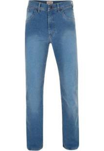 Calça Jeans Pierre Cardin Tradicional Premium - Masculino-Azul