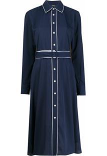 Polo Ralph Lauren Vestido Com Acabamento De Vivo - Azul