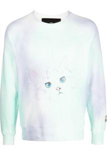 Marc Jacobs Suéter Com Estampa De Gato - Roxo