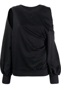 Diesel Suéter Com Recorte Vazado - Preto