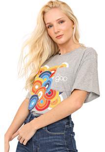 Camiseta Gap Estampada Bolso Cinza