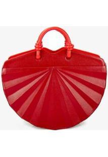Bolsa Handbag Soleah Leque Feminina - Feminino-Vermelho