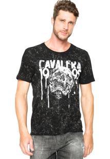 Camiseta Cavalera Skull Preto